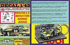 ANEXO DECAL 1/43 AUDI QUATTRO M.MOUTON R.GARRIGUES 1981 (01)