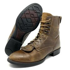 Ariat Heritage Lacer II Western Cowboy / Combat Boots Brown Leather Womens 9