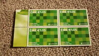 2016 IRELAND POST MINT STAMPS, IRELAND THINK GREEN ISSUE BLOCK OF 4 STAMPS MNH 2