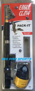"""EAGLE CLAW Pack-It Telescopic Spincast Rod/ Reel Combo 5'6"""" #PK56TSC NEW!"""
