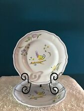 """Longchamp France """"Perouges"""" 10-1/4"""" Dinner Plates  (2)    ~Discontinued Pattern~"""