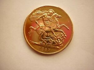1887 Gold Double Sovereign Coin Queen Victoria Jubilee Head