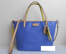 Coach NWT F25663 Park Metro Small Leather Tote Porcelain Blue