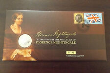 GB QEII FDC PNC COIN COVER 2010 FLORENCE NIGHTINGALE £2 ROYAL MINT/MAIL B/UNC