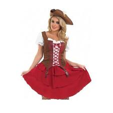 XXL Deck hand pirate girl costume corset style top, skirt, belt and hat