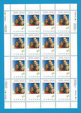 Canada Stamps 2000 46 Cent Scott* 1857  Sheet Of 16 Boys And Girls Clubs Canada