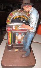 "1978 Original Michael Garman Wurlitzer Jukebox Honkytonk Cowboy Beer 13"" Tall VG"