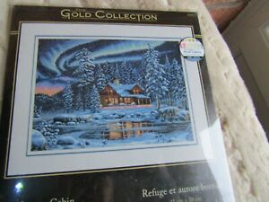 Cross Stitch Pattern Chart ONLY - Dimensions Gold Aurora Cabin 35212 * VGC