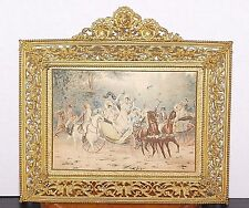 Antique Gilt Brass Filigree Picture Frame By James McCreery & Co.