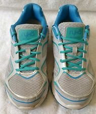 WOMEN'S RYKA ATHLETIC SHOES SIZE 7 MEDIUM LIGHT GRAY AND BLUE IN VGUC