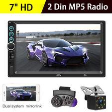 "7"" Double 2 DIN Car MP5 Player Stereo Radio Rear Head Unit Multimedia + Camera"