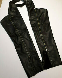 Womens Size Small SW Harley Davidson Leather Chaps