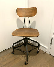 New listing Vintage Toledo Metal Furniture Co. Industrial Adjustable Drafting Chair Mcm