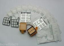 Compatibile Folletto VK 135 136 12 sacchetti 12 profumi 2 filtro griglia 2 HEPA