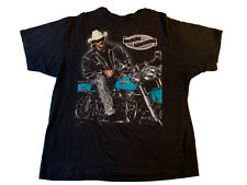 Vtg Alan Jackson T-Shirt L Black Country Music Motorcycle Rare Harley 90's Tour