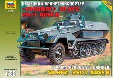 ZVEZDA 3572 - German Personnel Carrier Sd.Kfz 251/1 B HANOMAG / Scale Model 1/35
