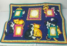 Daisy Kingdom Memory Lane Meow Quilt to Reuse Remake Cats Kittens Print