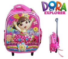 Dora The Explorer Travel Suitcase Child Girl Toddler Luggage Trolley School Bag