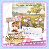 ❤️Wee Forest Folk M-323 Kissin' Katie Kate RETIRED Valentine Gray Booth Mouse❤️