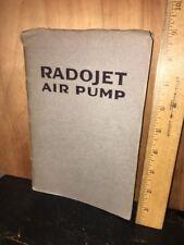 Antique Radojet Air Pump Owners Manual 1918. Original Copy