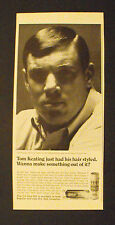 1968 Tom Keating Oakland Raiders Football Dep Hair Spray Sports Memorabilia AD