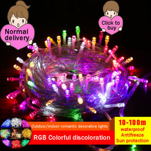 Fairy String Light Lamp 10M-100m LED Christmas Outdoor Wedding Party Waterproof