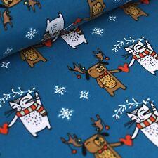 Bio Jersey  I give you my heart - blau (Stoffonkel) Hund Katze Weihnachten Herz