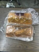 """Lot Of 2 Dome Covers Amber Federal Whelen 16""""x7"""""""