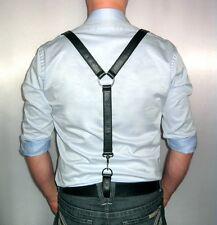 Hosenträger Lederhosenträger schwarz suspendier braves leather black