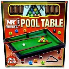 Mini Mesa Billar incluye bolas Pool Cues Perfecto juguete para niños TY824