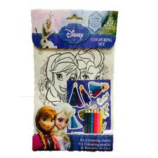 Kids Girls DISNEY FROZEN Colouring Set Ideal for Frozen Fans