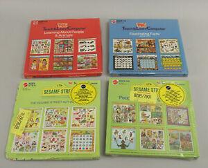 Lot 4 NOS Sealed VTG Mattel TLC Teach & Learn Computer Sesame Street++ 24 Games!