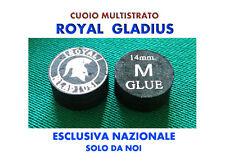 QT.1 CUOIO MULTISTRATO ROYAL GLADIUS MEDIO 14 mm NERO - PER STECCA DA BILIARDO