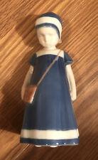 B&G Bing & Grondahl Else Girl, Purse #1574 Porcelain Figurine Denmark Deep Blue