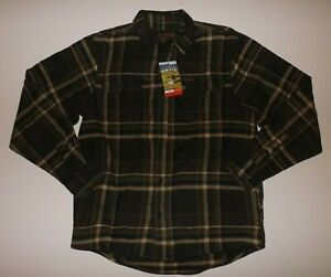 ORVIS Heavy Flannel Tall Pine Green Plaid Shirt Size L Large NWT Mens