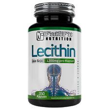 Lezithin 350 Kapseln je 1200mg Lecithin- XXXL Energie Nerven Muskeln Stress