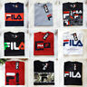 FILA Men's Long Sleeve/Short Sleeve T-shirt Logo Tee Athletic Sports Apparel