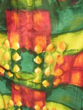 Stunning Mid Century Modern Atomic Abstract Print Barkcloth Curtains & Pelmet