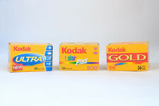 35mm Colour Film Kodak, 36 Exp, Assorted, Expired, 3 x Rolls, Color Plus Gold