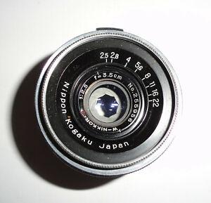 Nippon Kogaku Japan - W Nikkor C 3.5 cm F 2.5