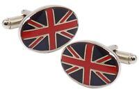 United Kingdom UK Oval Flag Mens Birthday Gift Cuff links by CUFFLINKS DIRECT