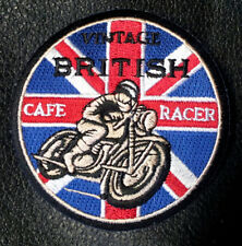 VINTAGE CAFE RACER TON UP UK  OVAL 3 INCH EMBROIDERED BIKER PATCH
