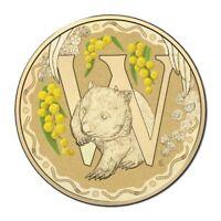 Australia 2016 Fair Dinkum Alphabet Letter 'W' Wombat $1 Dollar UNC Coin Carded