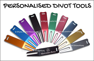 Personalised Metal Golf Divot Tool Pitch Mark Repairer Gift Free Engraving