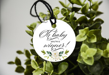 10 White Gift Tags Baby Shower Games Winner Tags Oh Baby You're A Winner!