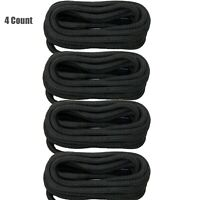 4 X 1/2 Inch 20Feet Nylon Dock Lines,Mooring Ropes Double Braided Tow Rope Black