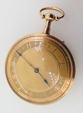.A STUNNING 19TH C. FRENCH PUSH 1/4 REPEATING 18k GOLD POCKET WATCH -WORKING
