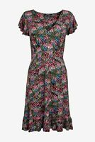 NEXT Multi Ditsy Floral Print Flute Sleeve Tea Dress Size 16 BNWT Holiday Party