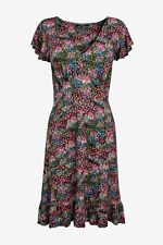 NEXT Multi Ditsy Floral Print Flute Sleeve Tea Dress Size 14 BNWT Holiday Party