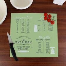 Personalised Conversions Glass Chopping Board/Worktop Saver New Home Birthday